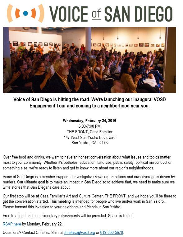Voice of San Diego Engagement Tour