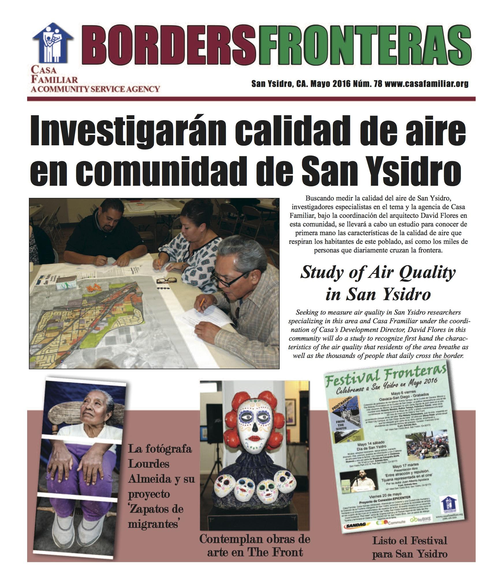 Border/Fronteras Newspaper May 2016