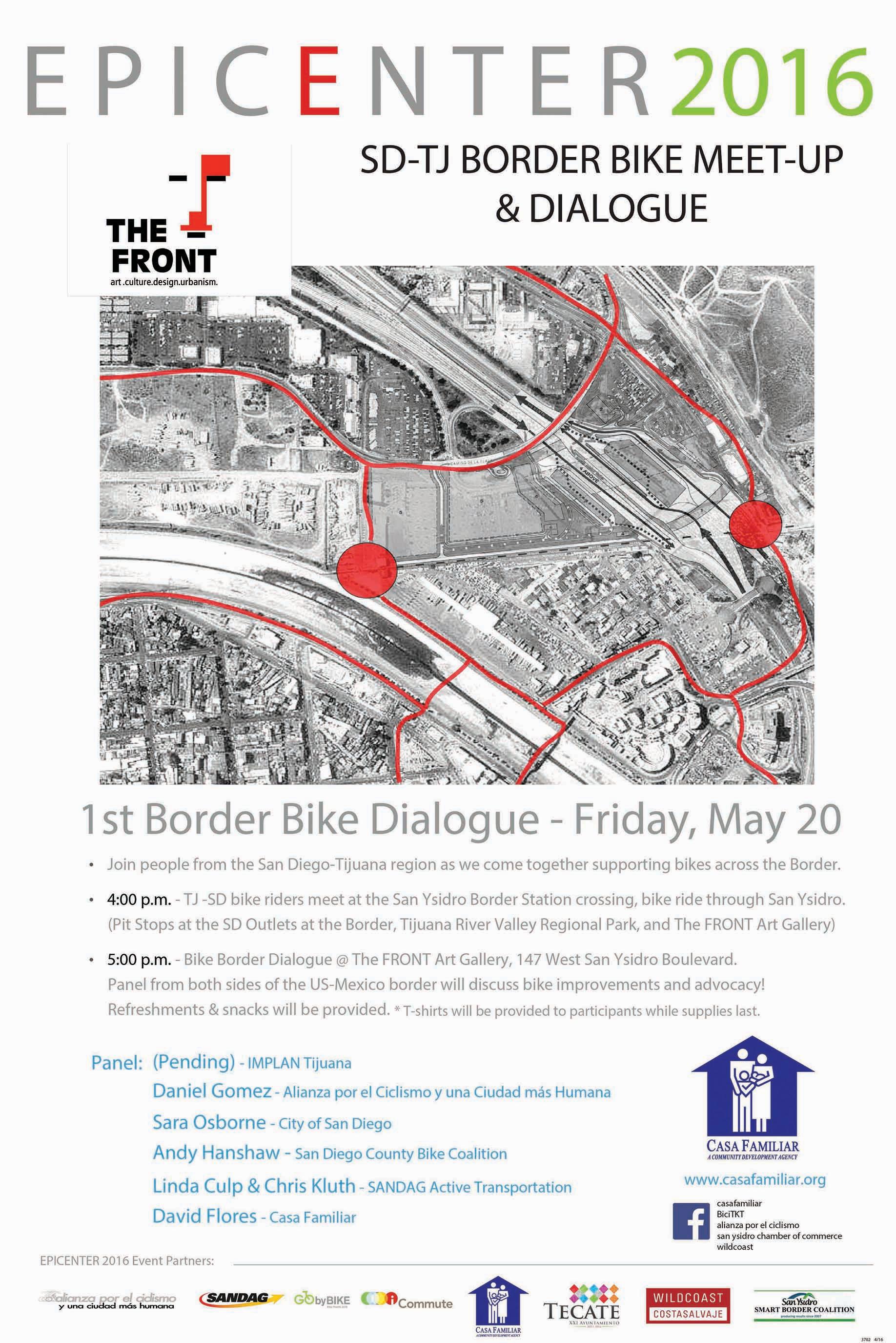 SD-TJ BORDER BIKE MEET-UP & DIALOGUE – May 20th
